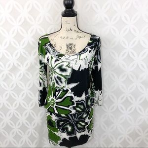 Vertigo Paris Drop Waist Floral Print Dress